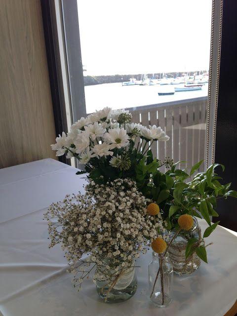 {Boho wedding} lace, jars, flowers