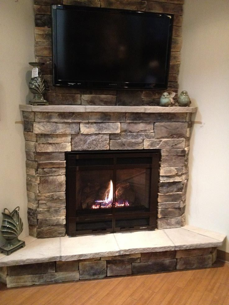 electric fireplace with stone mantel more