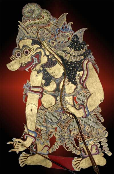 Batara Kala - God of the underworld in traditional Javanese and Balinese mythology -also the god of light, earth, and time. His consort is setesuyara.