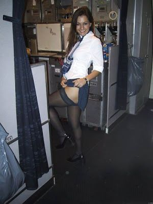 Flight attendants wearing pantyhose