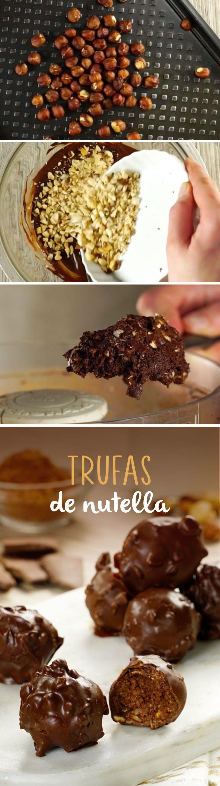 Si te gusta la nutella, no te puedes perder esta receta. | #Postres para San Valentín | Trufas de chocolate.