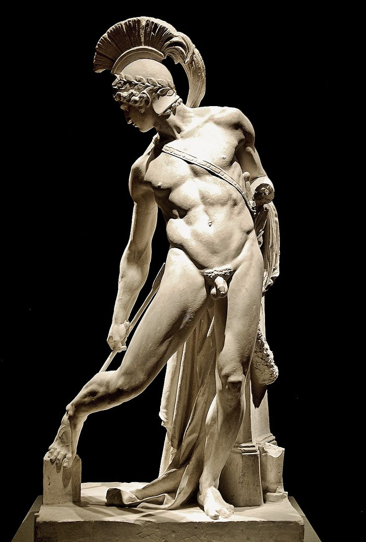 Achilles Wounded in the Heel by Paris. 1850.Charles Alphonse Achille Gumery. French 1827-1871. plaster.http://hadrian6.tumblr.com