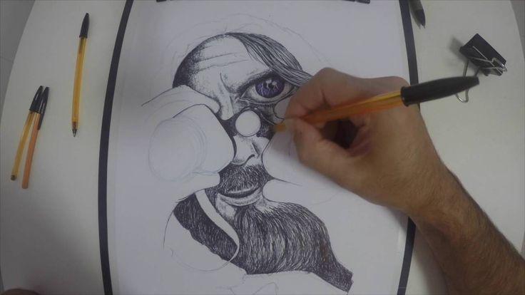 Brontxe in Progress... Drawin with Bic Pens