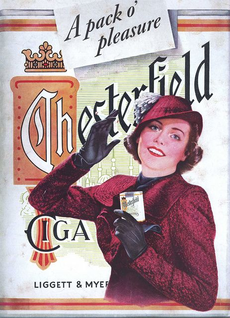 Ad for Chesterfield cigarettes, 1937