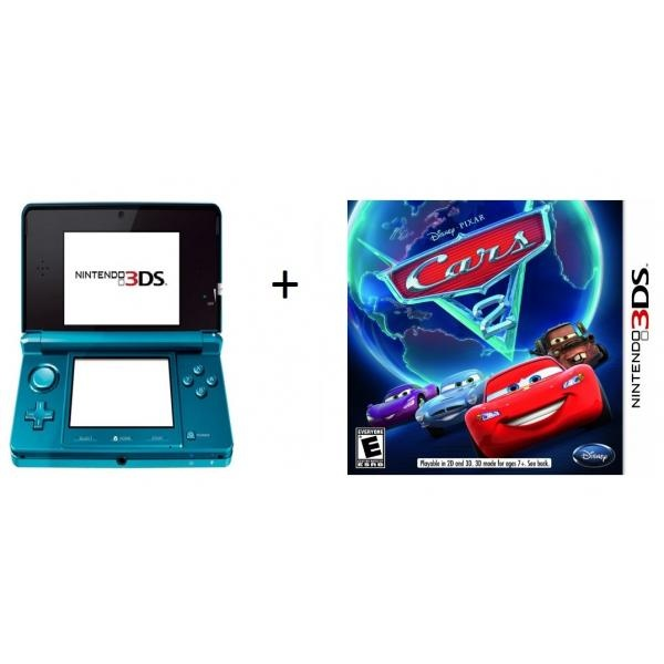 Nintendo - consola 3ds + Juego Cars 2 3ds