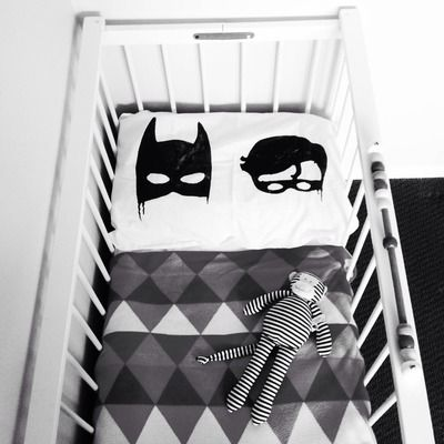 Batboys pillowcase- so much great stuff at Little Pop Studio