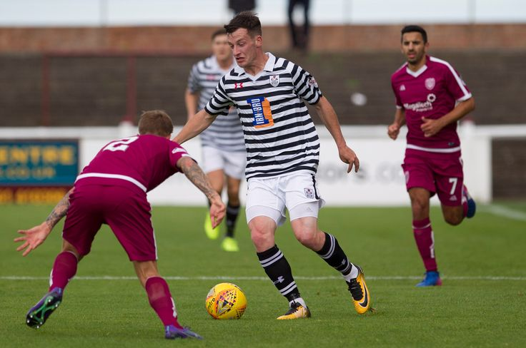 Queen's Park's David Galt in action during the SPFL League One game between Arbroath and Queen's Park.
