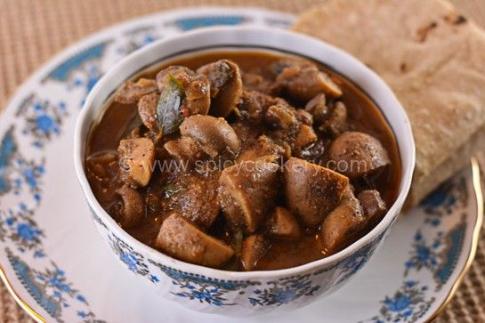 Chettinad Mushroom Curry | http://spicycookery.com/chettinad-mushroom-curry-recipe