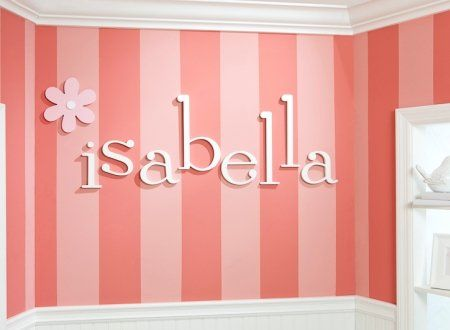 Pin by bk marshall on nursery ideas pinterest for Letters for kids rooms