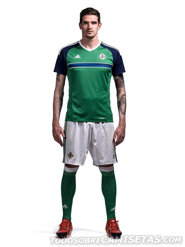 Northern Ireland Euro 2016 Home Kit by Adidas