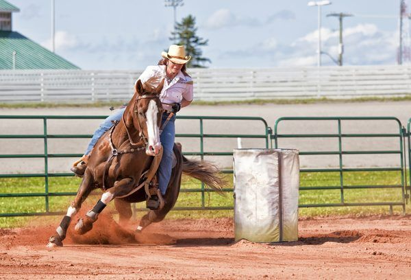Barrel racing training
