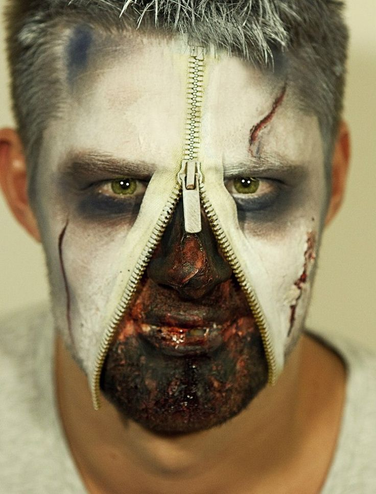 Maquillage Halloween homme très audacieux