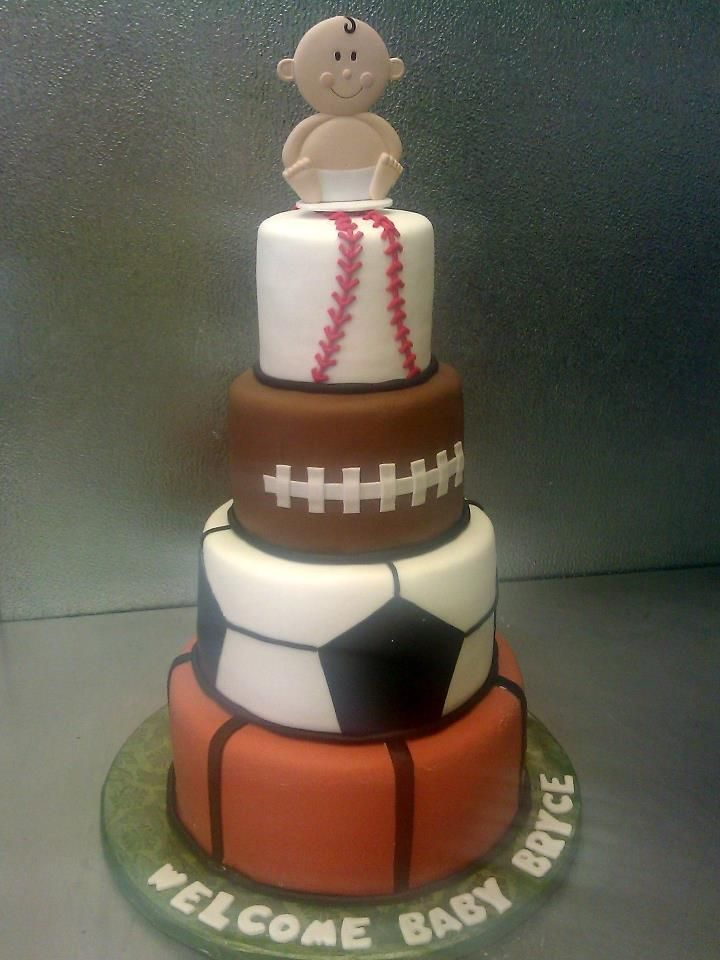 CC's Sweet Sensations Wedding and Party cakes and Chocolate Fountains  sports ball party cake