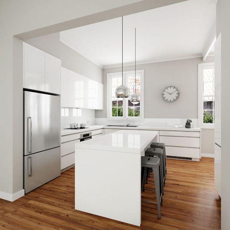 √ Modern White Kitchen | White Modern Dream Kitchen Designs