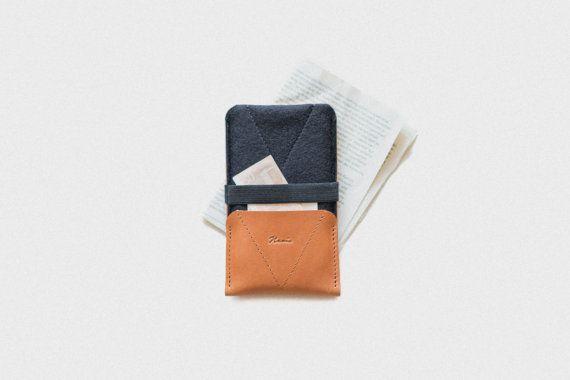 "Nexus 5X Case & Wallet ""Kangaroo"" - leather, wool felt"
