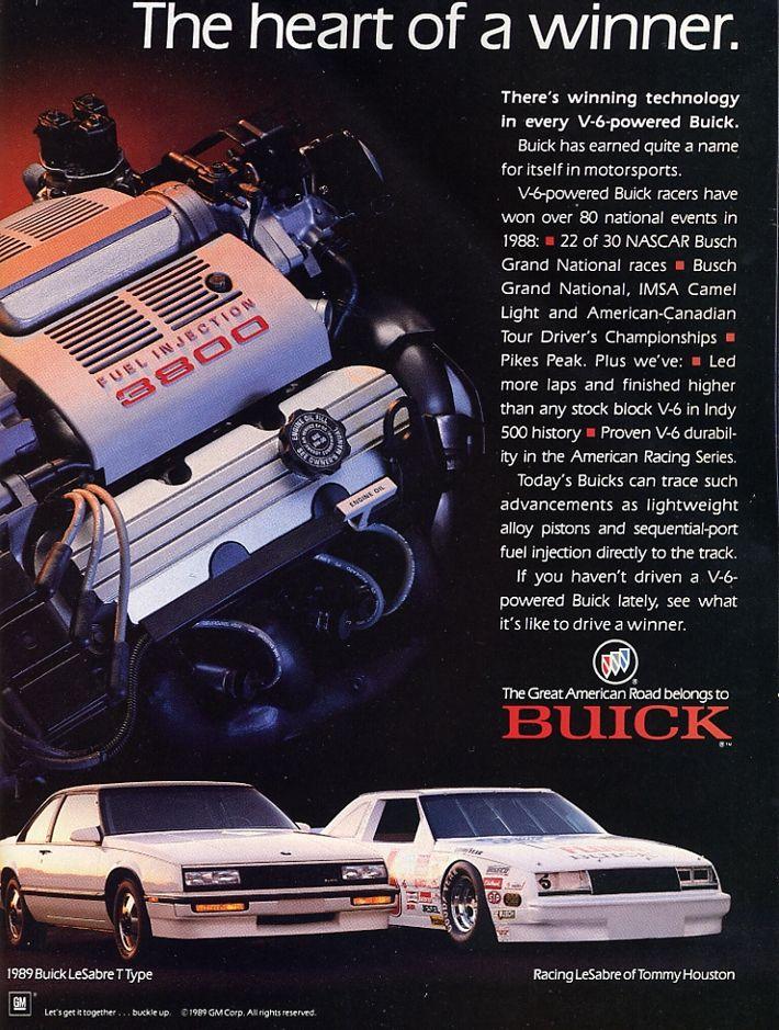 1989 Buick Lesabre Buick Lesabre Car Advertising Buick
