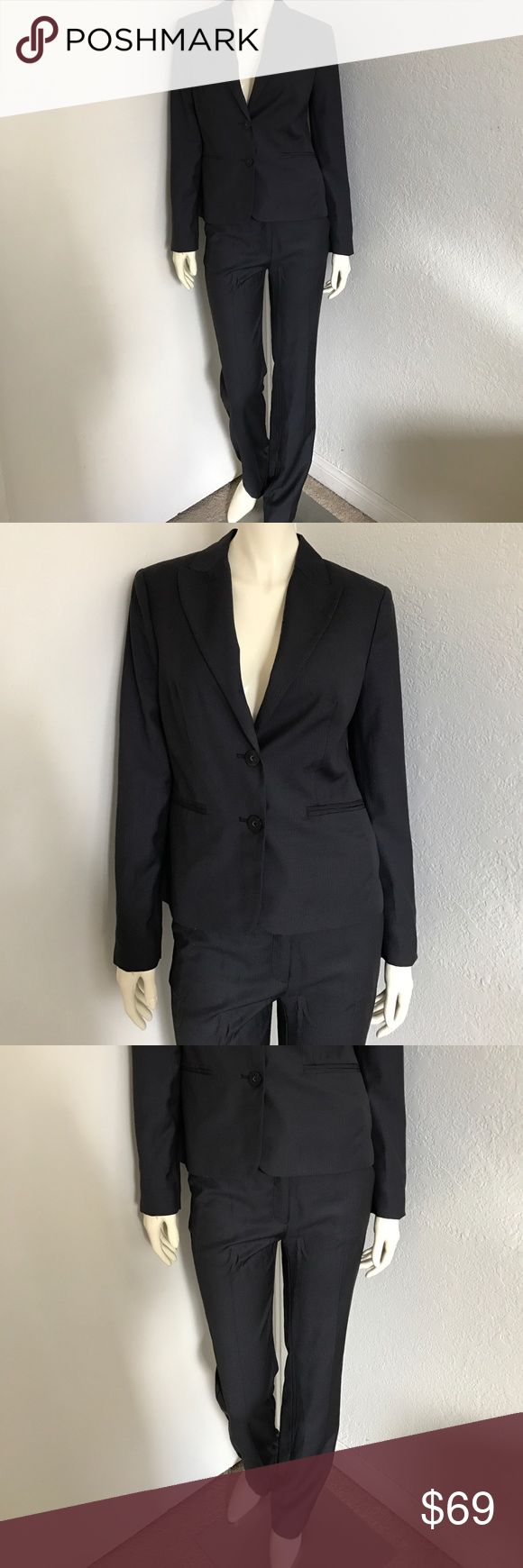 "Women's MNG Mango Pinstripe Career Suit Women's MNG Career Suit. Color: blue size: Pants-6 inseam 33"" blazer: M *NWOT no defects MNG MANGO Other"