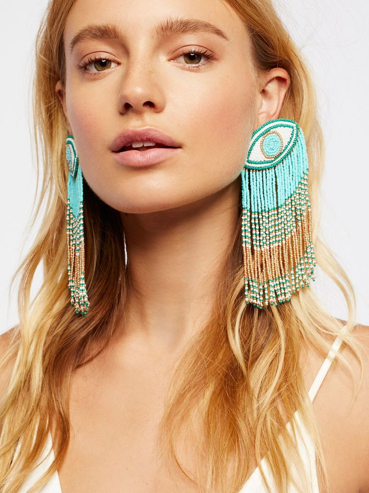 Crying Eyes Fringe Earrings from Free People!