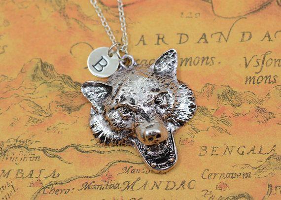 Zilveren wolf halsketting, fashion punk stijl wolf hoofd ketting, dierlijke ketting, gepersonaliseerde juwelen, als mannen cadeau