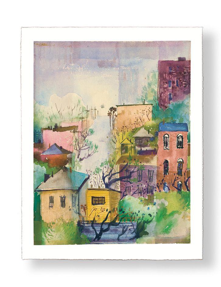 Bunkerhill LA Cityscape print, Henry Faulkner from finearteditions.net