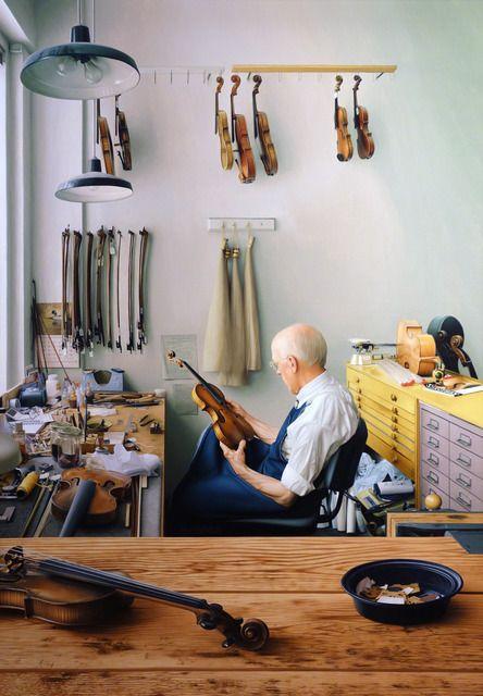 Max Ferguson, Violin Repair Shop - oil on canvas