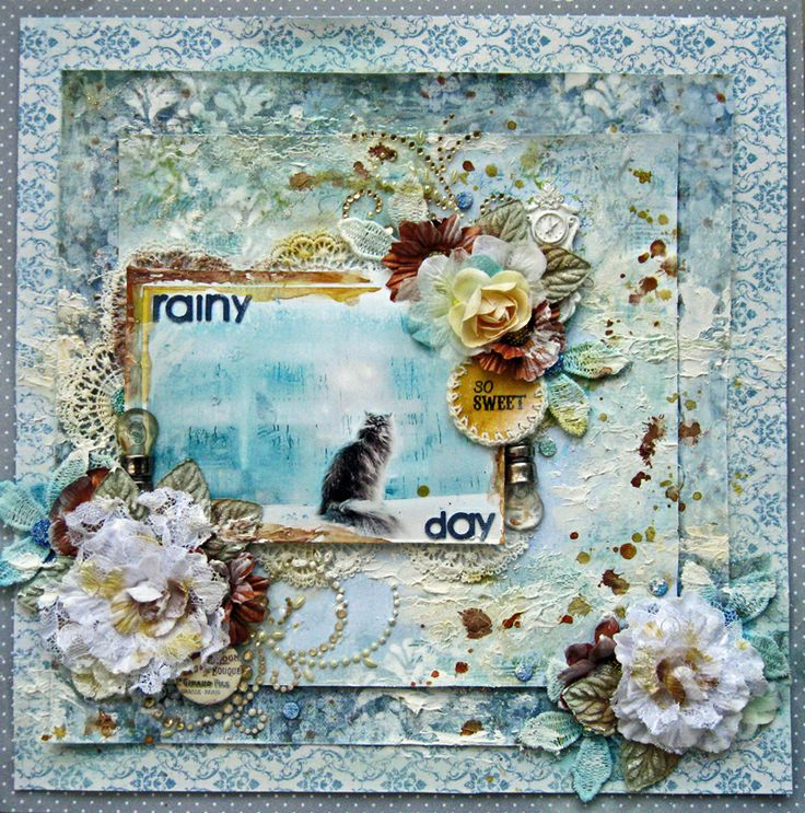Rainy Day - KaiserCraft papers and all Prima embellishments.