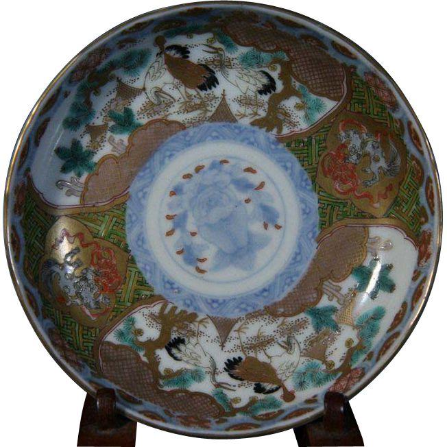 Japanese Antique Edo Period Ko- Imari Pair of Porcelain Plates of Cranes and Flowers  sc 1 st  Pinterest & 112 best Imari and Arita Porcelains Antique and Vintage images on ...