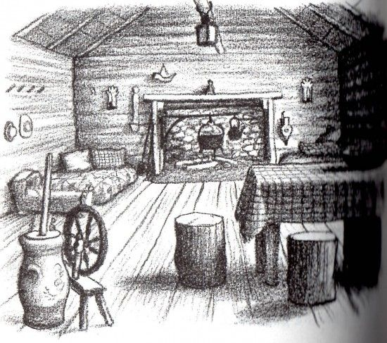 Little house in the big woods coloring pages then for Little house coloring pages