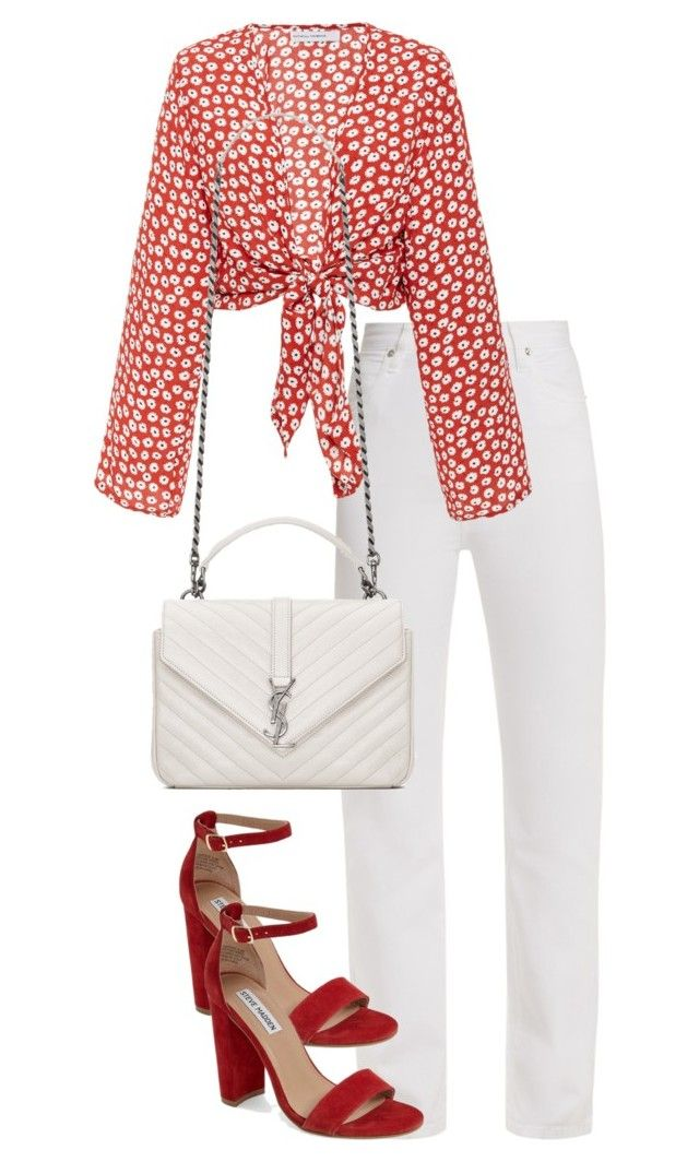 """Untitled #5040"" by theeuropeancloset on Polyvore featuring Eve Denim, Faithfull, Steve Madden and Yves Saint Laurent"