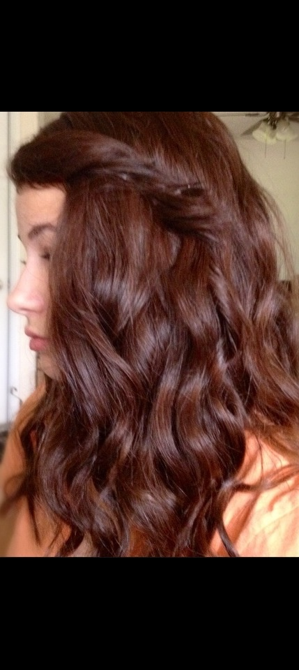 Medium brown curly hair