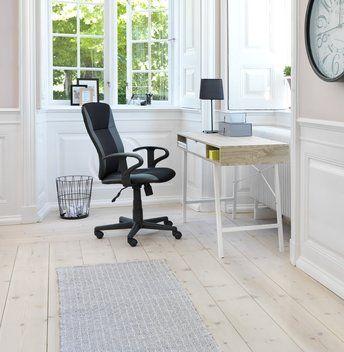 Työpöytä ABBETVED tammi/valkoinen   JYSK