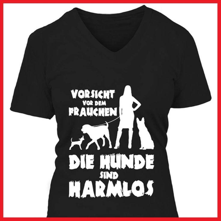 Vorsicht vor dem Frauchen - die Hunde sind harmlos  COOLES SHIRT, EXKLUSIVES MOTIV, LUSTIGER SPRUCH! Unser lustiges Hunde Sprüche Shirt / Hoodie ist das ideale Geschenk für Hundehalter, Hundebesitzer, Frauen & Frauchen!  Hund / Hundeshirt / Funshirt / Hundesprüche-Shirt / Spruch-Shirt / Motiv-Shirt / T-Shirt Motive / Langarmshirt / Ladyshirt / Top / Sweatshirt / Hoodie / Kapuzenshirt / Kapuzenpullover / Damen Hoodie / Pullover Bluse
