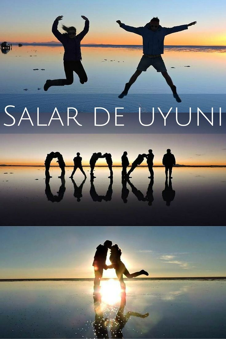 Fun in the sun... set. Salar de Uyuni aka The Bolivian Salt Flats is the perfect setting for every travel photographer.