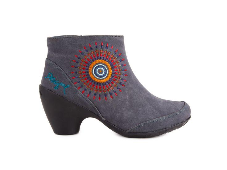 Desigual - Dámské kotníkové boty se zipem Andres 2 / šedá