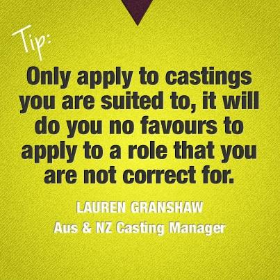 #tip from Lauren Granshaw, #Australian &  #NewZealand #Casting Manager