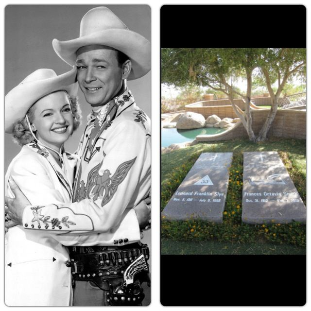 Roy Rogers and Dale Evans buried at Sunset Hill Cemetery, Apple Valley, California