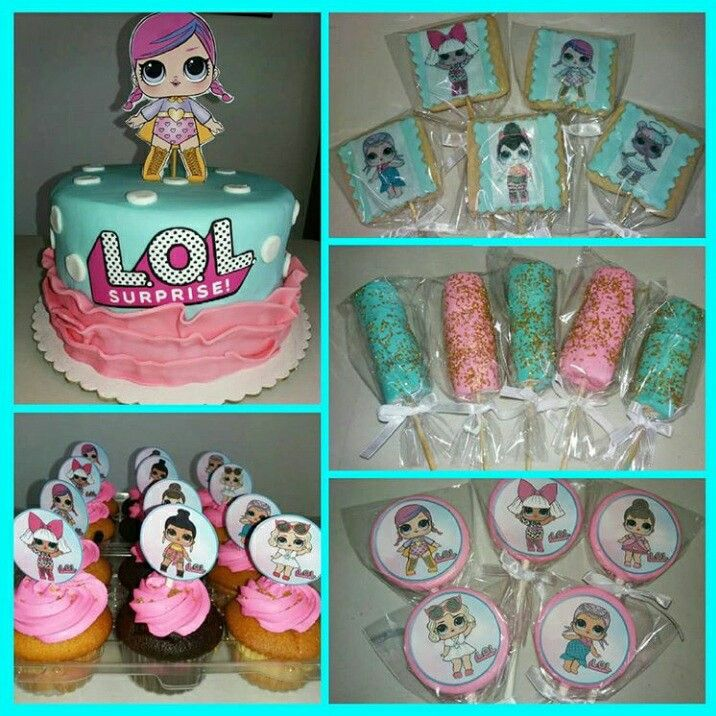 Lol Surprise Birthday Party Lol Surprise Cake Lol Surprise Cupcakes Lol Surprise Cookies With Images Birthday Surprise Party Doll Birthday Cake Suprise Birthday