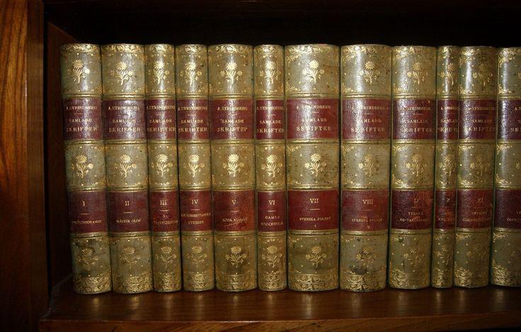 A Strindberg Collected Work 1912 1919 55 Volumes Fine Binding by G Hedberg | eBay