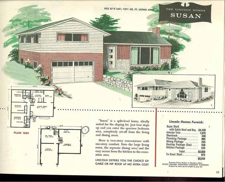 26d1d6a3ff1c55735ec9c7fe89078d09 split level exterior vintage houses 22 best secret obsession floor plans! images on pinterest,House Plans 1950s