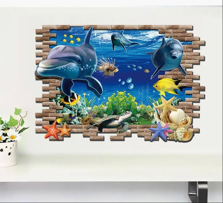 3D Removable Underwater World Wall Art Stickers