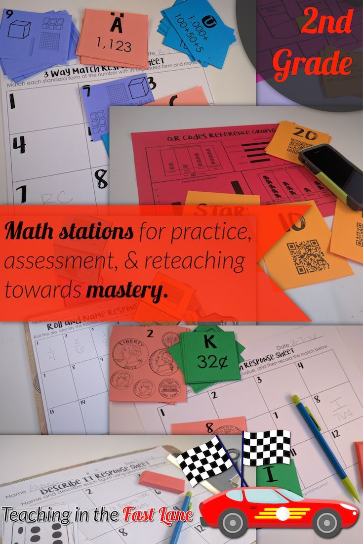 The BEST math test prep stations! Each set has ten stations to practice one standard, so that students have a chance to reach mastery. GREAT for guided math!