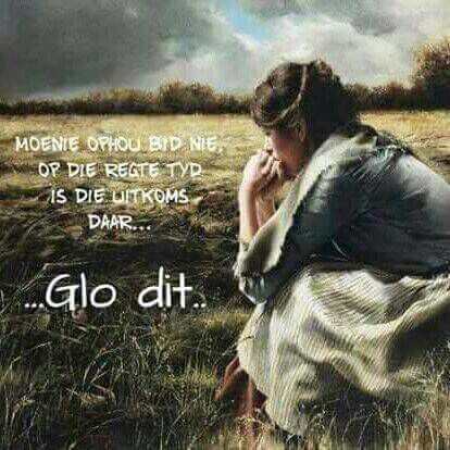 Moenie ophou bid nie
