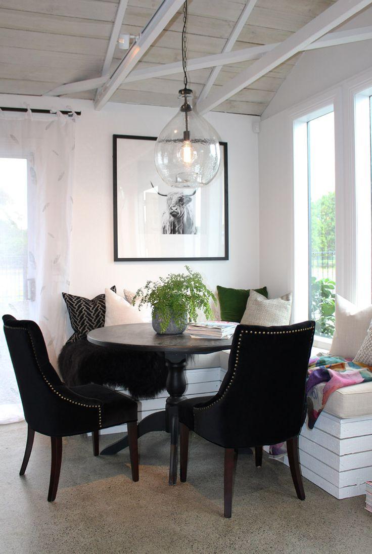 Studio Black. Lou Brown Design. Custom window seat and soft furnishings.