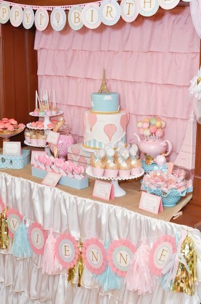 Vintage Hot Air Balloon Birthday Party Ideas | Photo 12 of 15 | Catch My Party