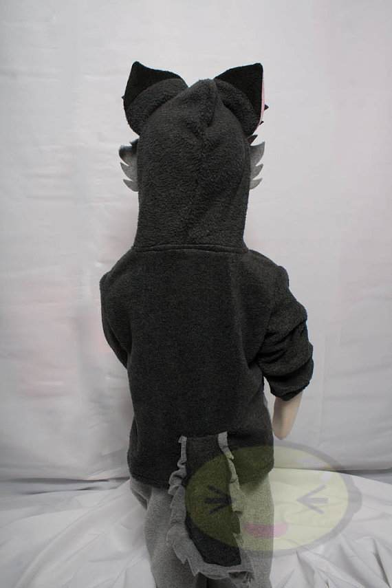 BABY and TODDLER Wolf Hoodie Costume Vest Jacket by lemonbrat, $41.99
