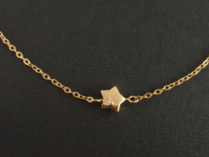 Gold Cubic Point Star Necklace -14K gold filled necklace - simple jewelry everyday necklace, minimalist, gift for mom girlfriend. $24.90, via Etsy.