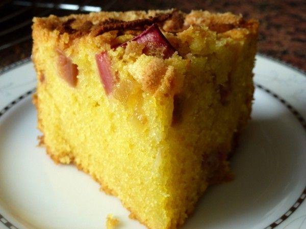 Ciasto migdałowo imbirowe z rabarbarem - Takie tam moje pomysły