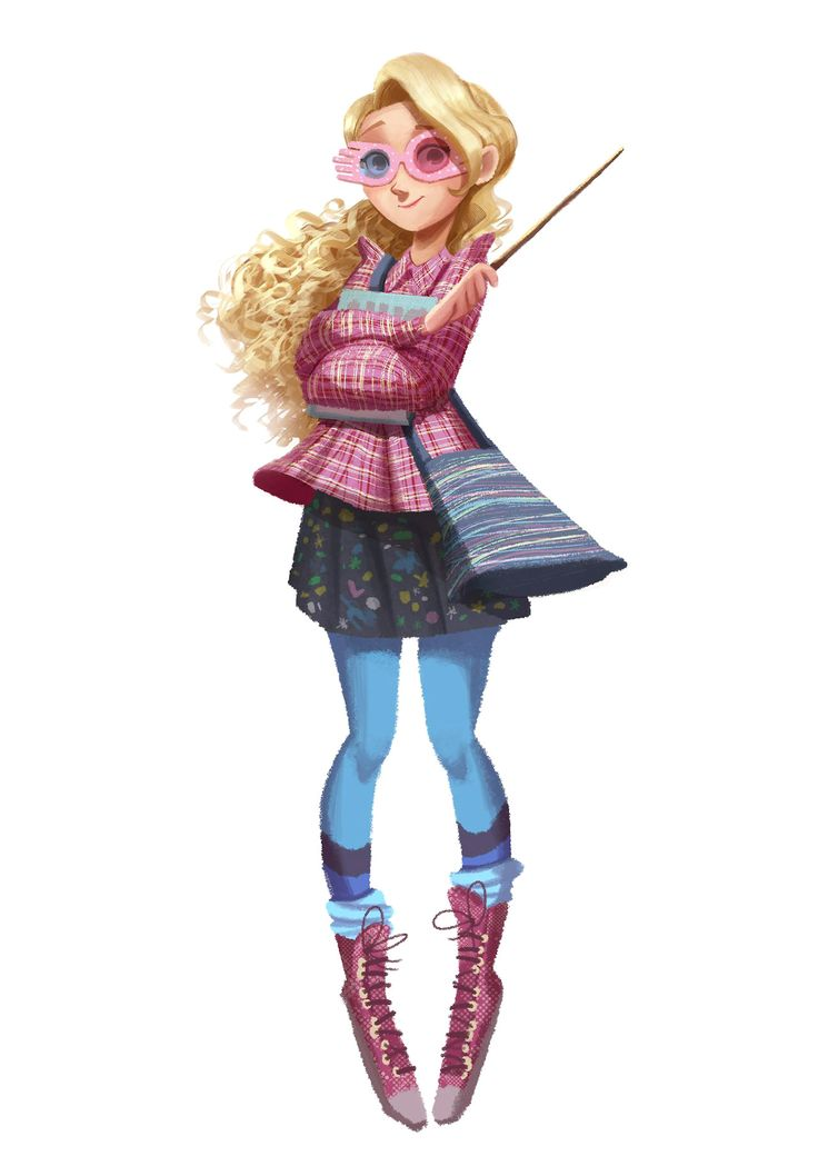 """You're just as sane as I am"" - Luna Lovegood  drew Luna Lovegood from Harry Potter!  More on my instagram: @rachelhofs"