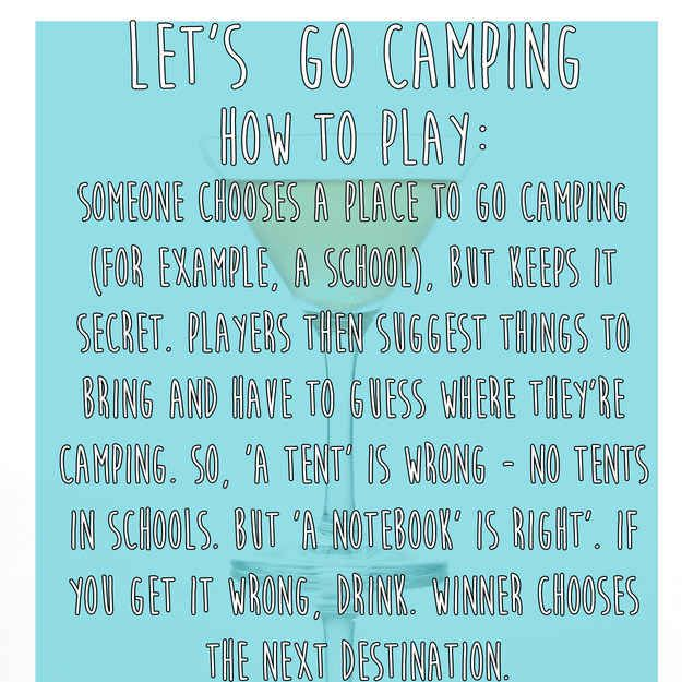 Let's Go Camping | 15 Simple Drinking Games Every Fresher Should Know