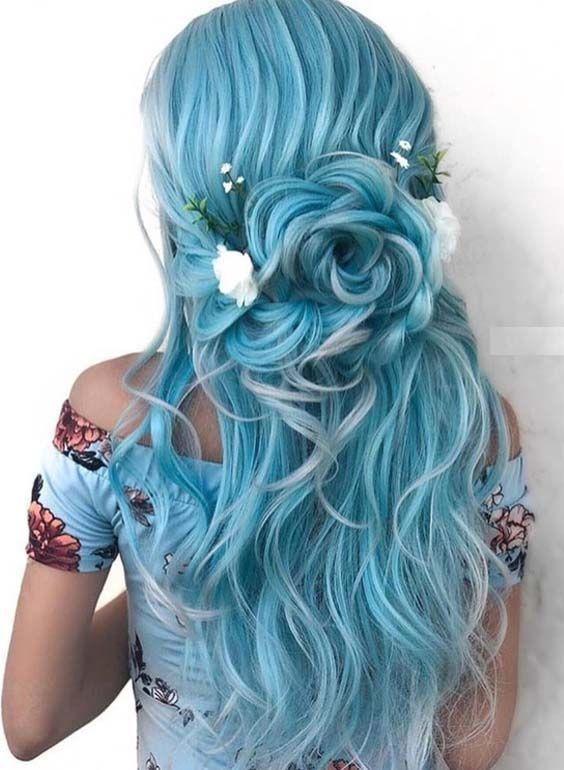 42 Elegante blaue Braut- und Hochzeitsfrisuren für 2018. Suchen Sie noch nach ne